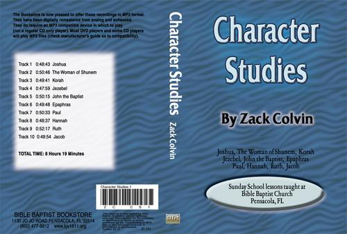 Zack Colvin: Character Studies on MP3