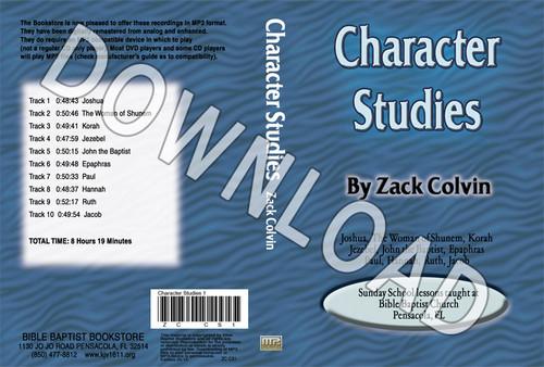 Zack Colvin: Character Studies - Downloadable MP3