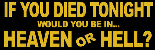 If You Died - Large Reflective Magnet