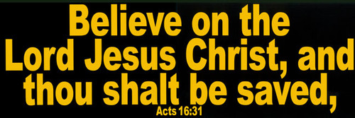 Acts 16:31 - Large Reflective Magnet