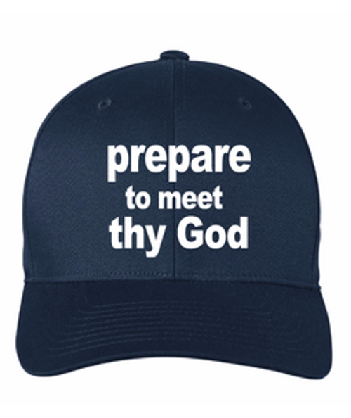 Scripture Hat - Amos 4:12 (navy blue)