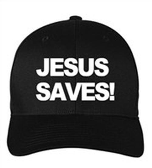 Scripture Hat - Jesus Saves (black)