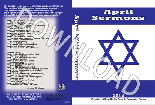 April 2018 Sermons - Downloadable MP3