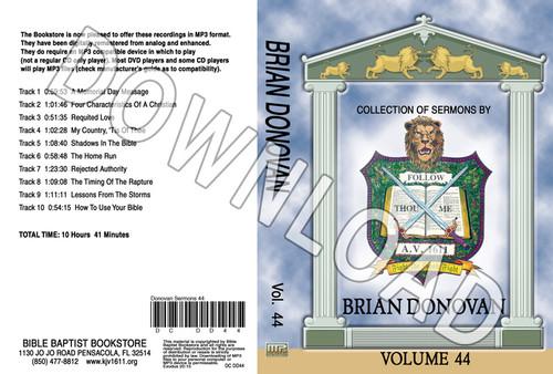 Brian Donovan: Sermons, Volume 44 - Downloadable MP3