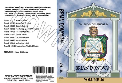 Brian Donovan: Sermons, Volume 46 - Downloadable MP3