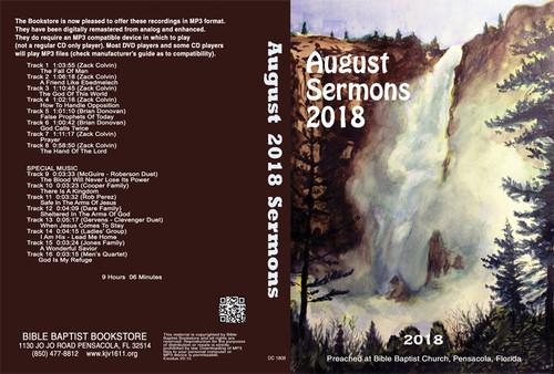 August 2018 Sermons - MP3