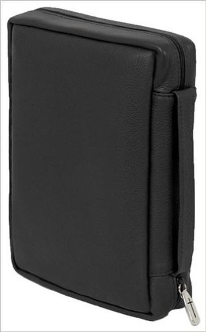 "Genuine Soft Grain Leather - Bible Cover Black (6"" x 9"" x 2"")"