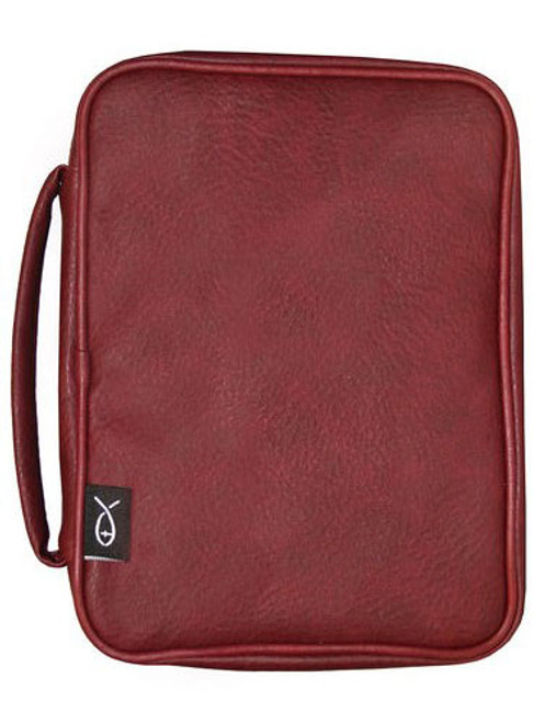 """Leatherette - Bible Cover Burgundy (6.5"""" x 9.5"""" x 1.75"""")"""
