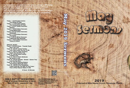 May  2019 Sermons - MP3