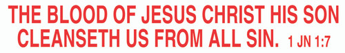The Blood of Jesus Christ - Reflective Magnet