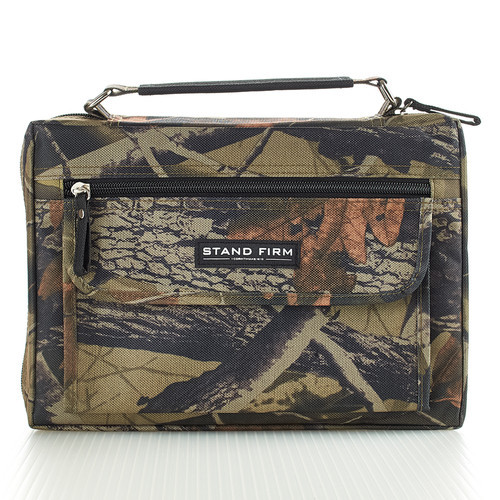 """Stand Firm Camouflage Canvas Bible Cover (6.5"""" x 9.5"""" x 1.75"""")"""