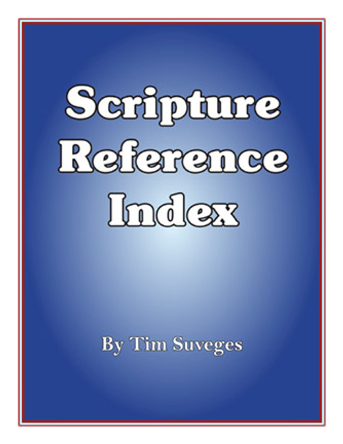Scripture Reference Index (for Dr. Ruckman's books)