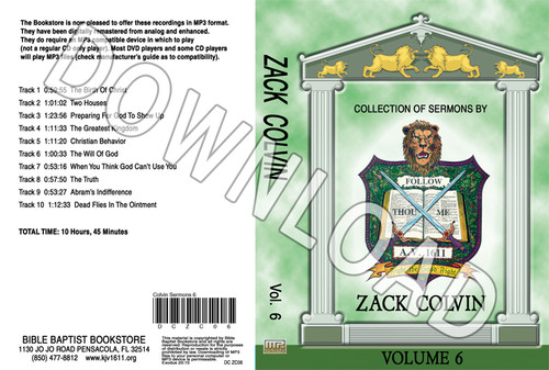 Zack Colvin: Sermons, Volume 6 - Downloadable MP3