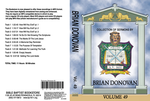 Donovan Sermons on MP3 - Volume 49
