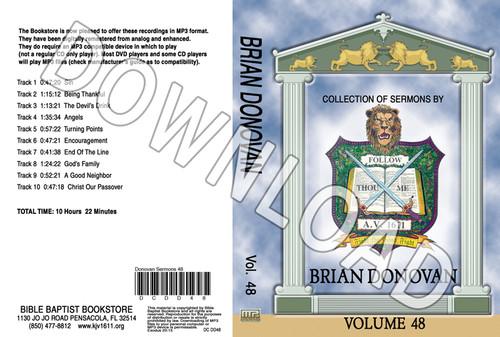 Brian Donovan: Sermons, Volume 48 - Downloadable MP3