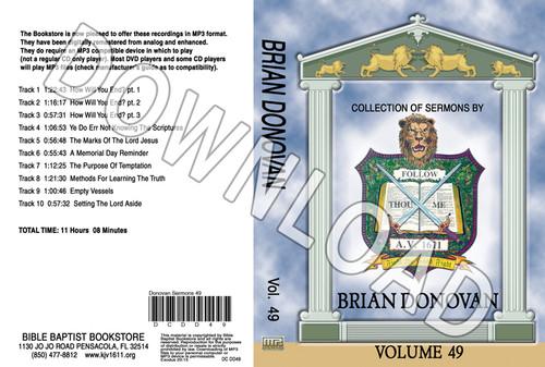 Brian Donovan: Sermons, Volume 49 - Downloadable MP3
