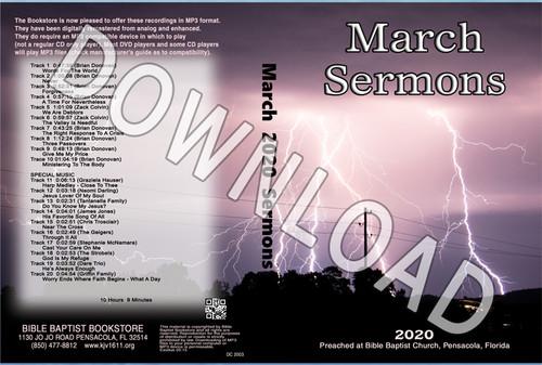 March 2020 Sermons - Downloadable MP3