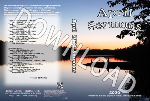 April  2020 Sermons - Downloadable MP3