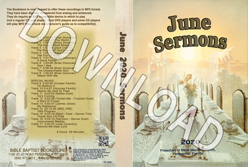 June  2020 Sermons  - Downloadable MP3