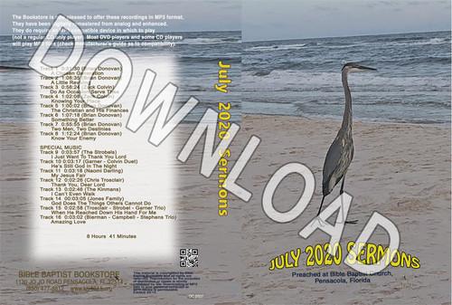July  2020 Sermons  - Downloadable MP3