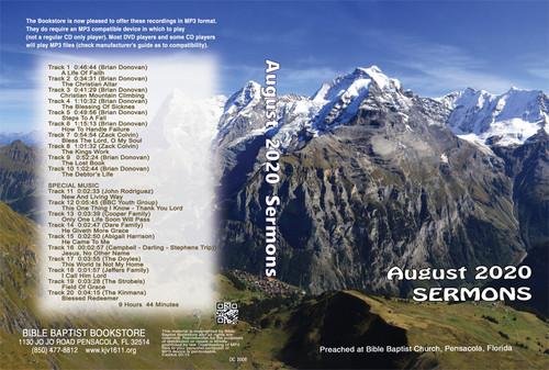 August  2020 Sermons - MP3