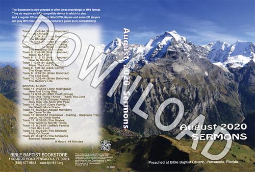 August  2020 Sermons  - Downloadable MP3