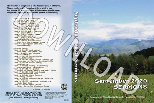 September  2020 Sermons  - Downloadable MP3
