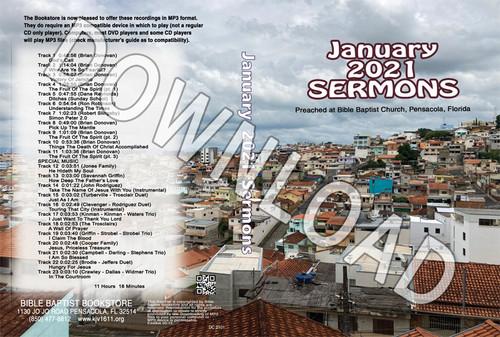 January 2021 Sermons  - Downloadable MP3