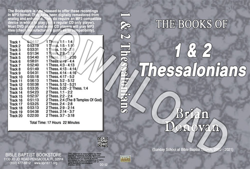 Brian Donovan: The Book of 1 & 2 Thessalonians - Downloadable MP3