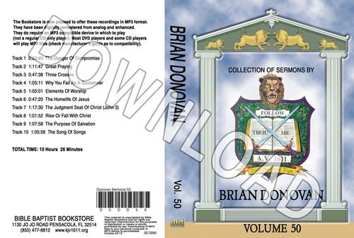 Brian Donovan: Sermons, Volume 50 - Downloadable MP3