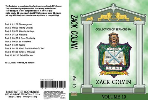 Zack Colvin Sermons on MP3 - Volume 10