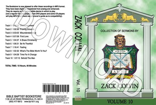 Zack Colvin: Sermons, Volume 10 - Downloadable MP3