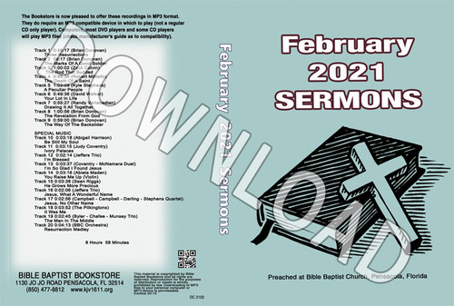 February 2021 Sermons  - Downloadable MP3