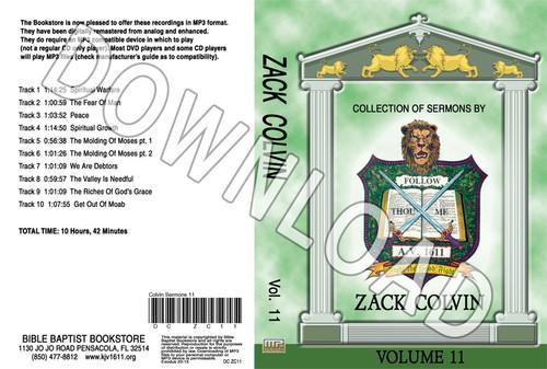 Zack Colvin: Sermons, Volume 11 - Downloadable MP3