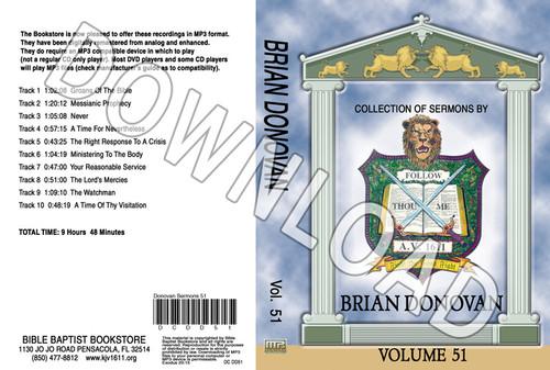 Brian Donovan: Sermons, Volume 51 - Downloadable MP3