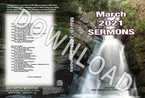 March 2021 Sermons  - Downloadable MP3