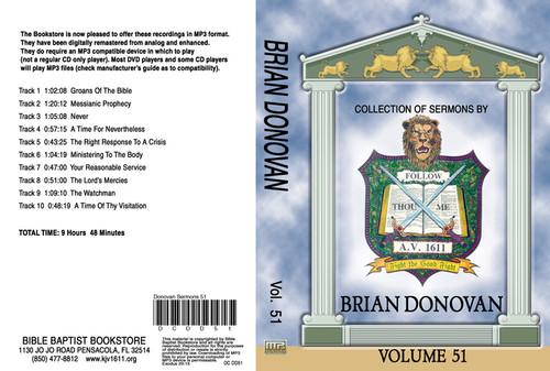Brian Donovan Sermons on MP3 - Volume 51