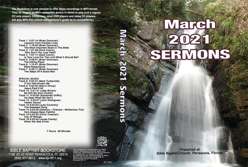 March  2021 Sermons - MP3