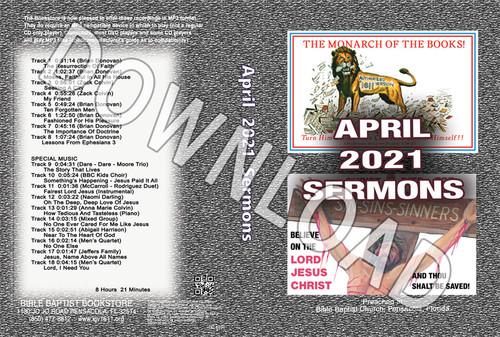 April  2021 Sermons  - Downloadable MP3