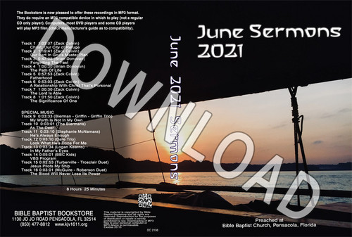 June 2021 Sermons  - Downloadable MP3
