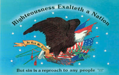 Righteousness Exalteth a Nation - Postcard