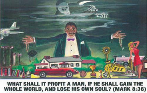 What Shall It Profit A Man? - Postcard