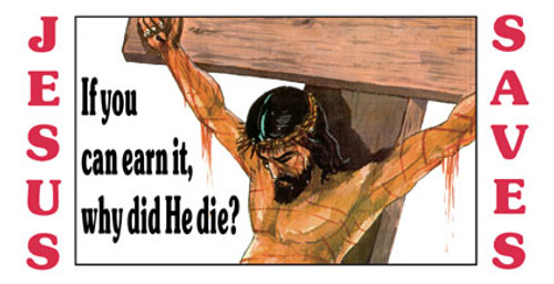 Jesus Saves - License Plate
