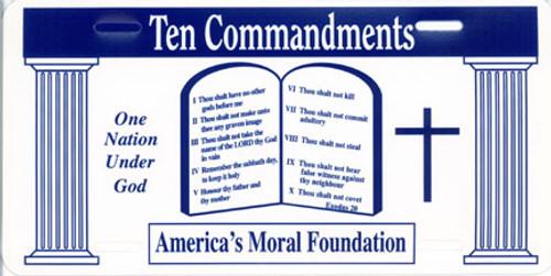 Ten Commandments - License Plate