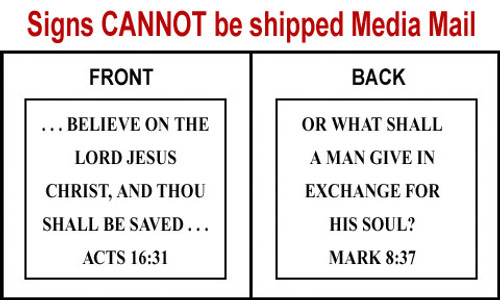 Scripture Sign - Acts 16:31 and Mark 8:37