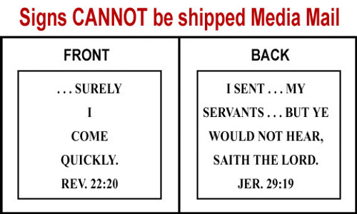 Scripture Sign Revelation 22:20 and Jeremiah 29:19