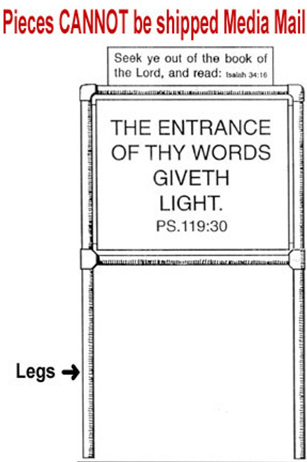 Leg for Scripture Sign Frame - One Piece