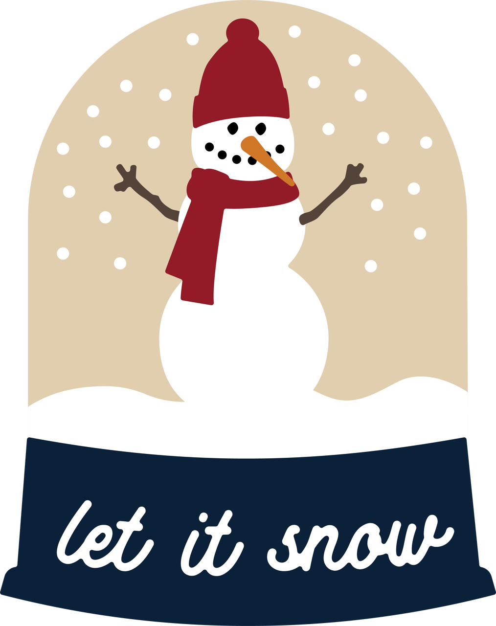 Let It Snow Snow Globe SVG Cut File