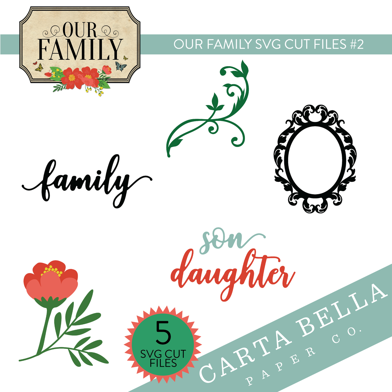 Our Family SVG Cut Files #2