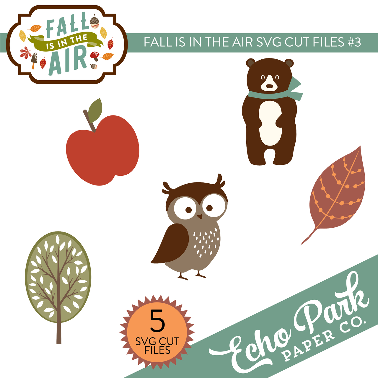 Fall Is In The Air SVG Cut Files #3